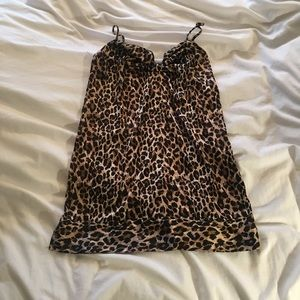 Victoria's Secret leopard satin-link nightie